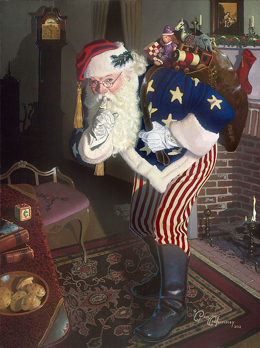 Dean Morrissey - The Promise of Peace and Tranquility - Father Christmas During the Civil War -  SMALLWORK CANVAS EDITION Published by the Greenwich Workshop