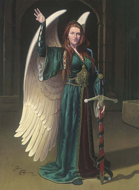 Dean Morrissey - Bridget the Celtic Angel -  LIMITED EDITION CANVAS Published by the Greenwich Workshop