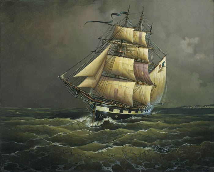Dean Morrissey - The Crossing of the Ghost Ship Bonnie Bowes -  LIMITED EDITION CANVAS Published by the Greenwich Workshop