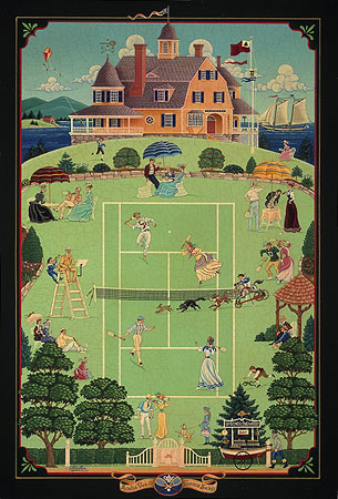 Ed Parker - ACADIA TEA AND TENNIS SOCIETY -  LIMITED EDITION PRINT Published by the Greenwich Workshop