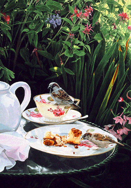 Ron Parker - TEA FOR TWO -  LIMITED EDITION PRINT Published by the Greenwich Workshop