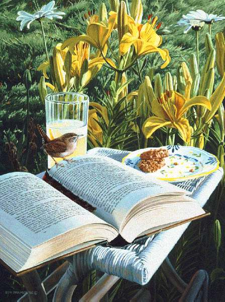 Ron Parker - SUMMER READING -  LIMITED EDITION PRINT Published by the Greenwich Workshop