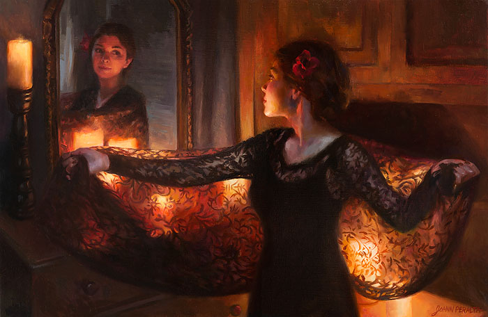 JoAnn  Peralta - Candlelight Reflection -  LIMITED EDITION CANVAS Published by the Greenwich Workshop