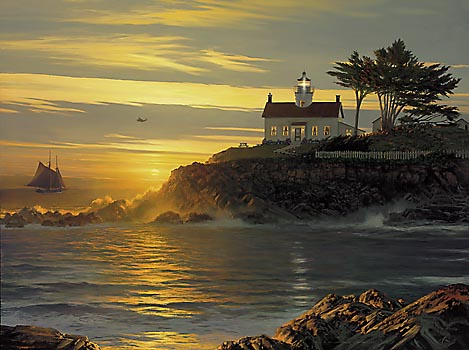 William S. Phillips - SUNSET SENTINEL -  LIMITED EDITION CANVAS Published by the Greenwich Workshop