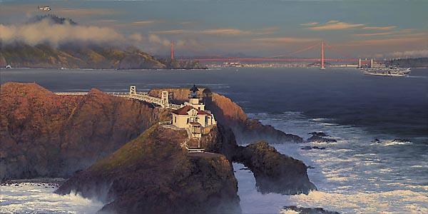 William S. Phillips - POINT BONITA:LAST LIGHT -  LIMITED EDITION PRINT Published by the Greenwich Workshop