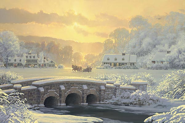 William S. Phillips - SLEIGH RIDE AT APPLE CREEK -  LIMITED EDITION PRINT Published by the Greenwich Workshop