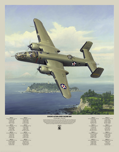 William S. Phillips - Evasive Action Over Sagami Bay -  LIMITED EDITION PRINT Published by the Greenwich Workshop