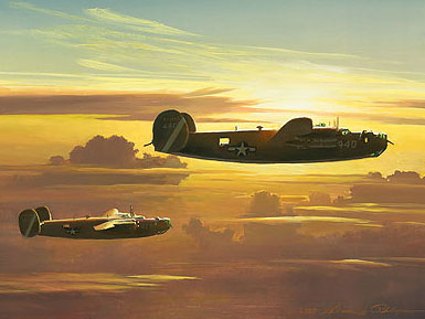 William S. Phillips - Dawn of the Liberators -  LIMITED EDITION CANVAS Published by the Greenwich Workshop