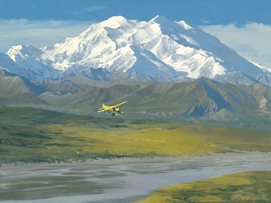 William S. Phillips - Denali Summer -  LIMITED EDITION CANVAS Published by the Greenwich Workshop