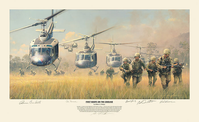 William S. Phillips - First Boots on the Ground -  LIMITED EDITION PRINT Published by the Greenwich Workshop