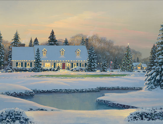 William S. Phillips - Christmas on the Eighth -  LIMITED EDITION CANVAS Published by the Greenwich Workshop