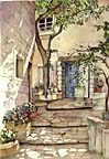 COURTYARD ROMANCE<br> LIMITED EDITION PRINT