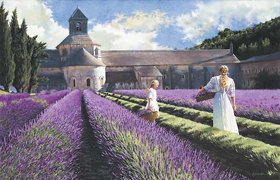 Heide Presse - LAVENDER -  LIMITED EDITION PRINT Published by the Greenwich Workshop