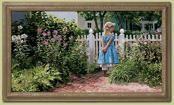 Heide Presse - Garden Gate -  LIMITED EDITION PRINT Published by the Greenwich Workshop