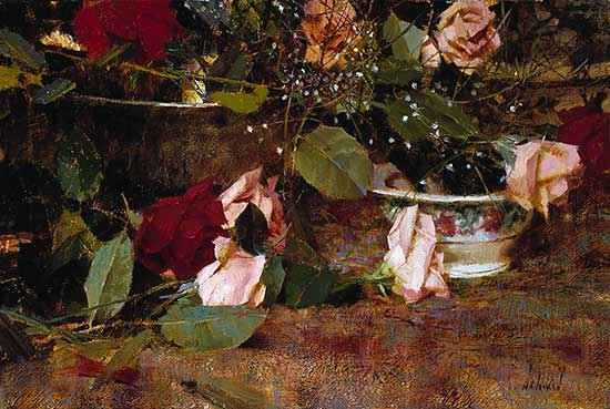 Richard Schmid - A GIFT OF ROSES -  LIMITED EDITION PRINT Published by the Greenwich Workshop