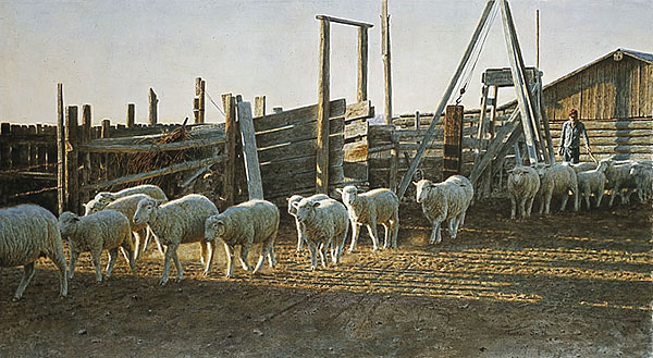 Tucker Smith - CHAUNCEY´S CORRALS -  LIMITED EDITION PRINT Published by the Greenwich Workshop