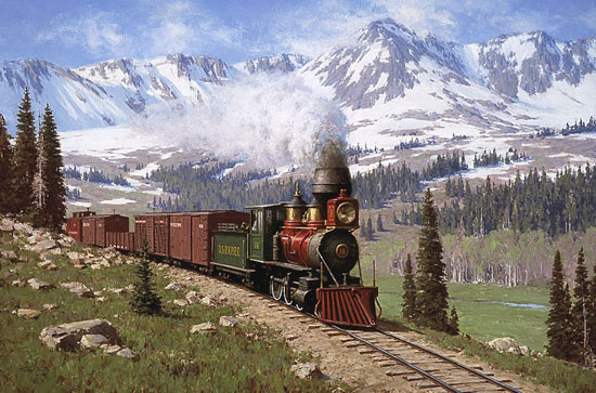 Tucker Smith - COLORADO NARROW GAUGE -  LIMITED EDITION PRINT Published by the Greenwich Workshop