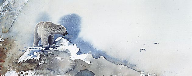 Mort Solberg - POLAR BEAR -  LIMITED EDITION PRINT Published by the Greenwich Workshop
