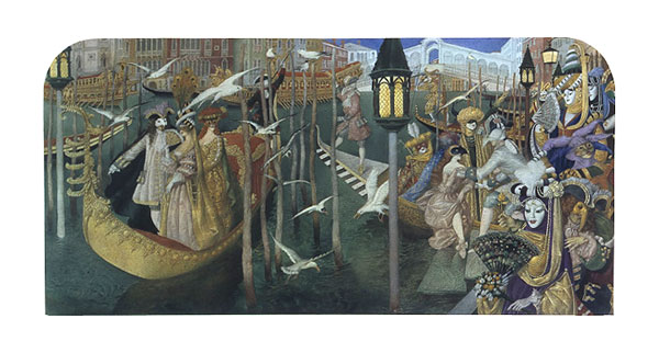 Gennady Spirin - CARNIVAL IN VENICE -  LIMITED EDITION PRINT Published by the Greenwich Workshop