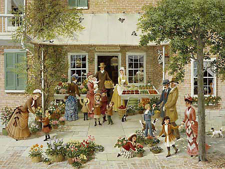 Charlotte Sternberg - MARKET DAY -  LIMITED EDITION PRINT Published by the Greenwich Workshop