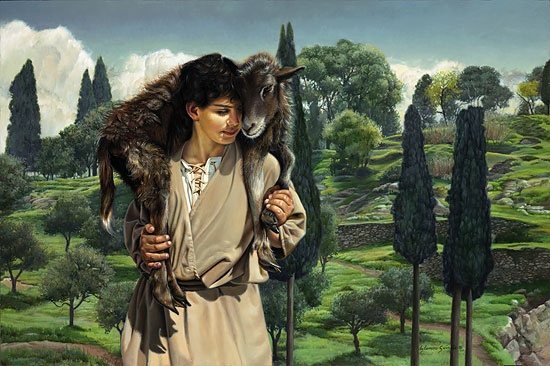 Liz Lemon Swindle - THE LAMB OF GOD -  LIMITED EDITION CANVAS Published by the Greenwich Workshop
