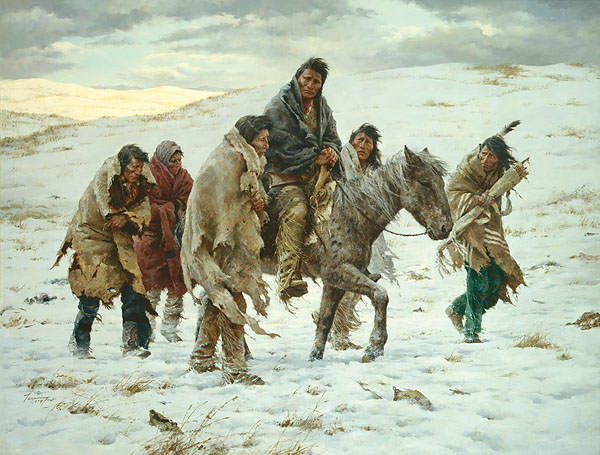 Howard Terpning - CHIEF JOSEPH RIDES TO SURRENDER -  LIMITED EDITION PRINT Published by the Greenwich Workshop
