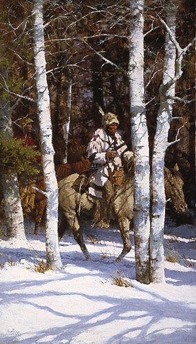 Howard Terpning - BLACKFEET AMONG THE ASPEN -  LIMITED EDITION PRINT Published by the Greenwich Workshop