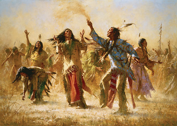 Howard Terpning - HOPE SPRINGS ETERNAL - GHOST DANCE -  LIMITED EDITION PRINT Published by the Greenwich Workshop