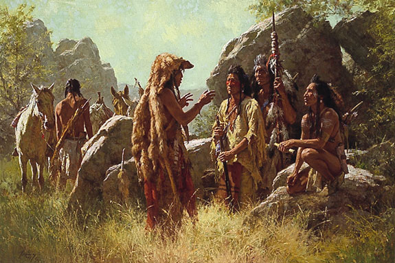 Howard Terpning - SCOUT´S REPORT -  LIMITED EDITION PRINT Published by the Greenwich Workshop
