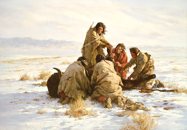 Howard Terpning - THE LAST BUFFALO -  LIMITED EDITION PRINT Published by the Greenwich Workshop