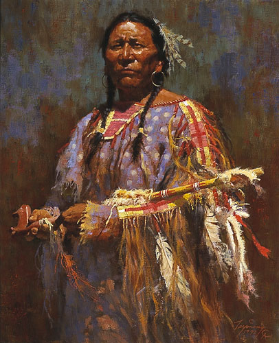 Howard Terpning - MEDICINE PIPE -  LIMITED EDITION PRINT Published by the Greenwich Workshop