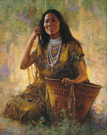Howard Terpning - ISDZAN - APACHE WOMAN -  LIMITED EDITION PRINT Published by the Greenwich Workshop