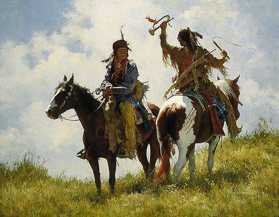 Howard Terpning - THE TROPHY -  LIMITED EDITION CANVAS Published by the Greenwich Workshop