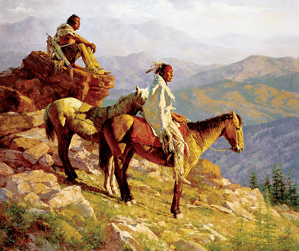 Howard Terpning - ON THE EDGE OF THE WORLD -  LIMITED EDITION PRINT Published by the Greenwich Workshop