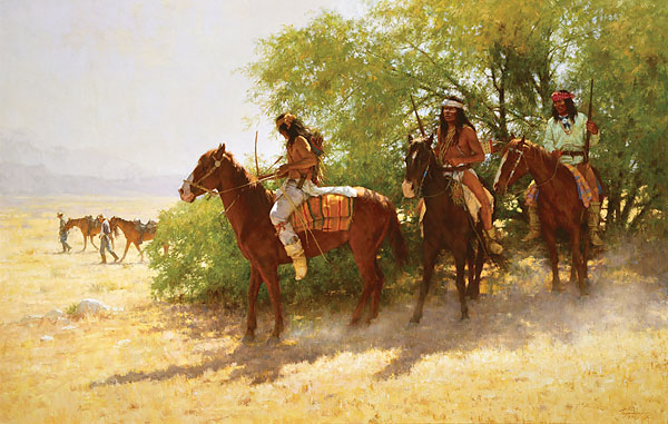 Howard Terpning - THE STRAGGLERS -  LIMITED EDITION CANVAS Published by the Greenwich Workshop