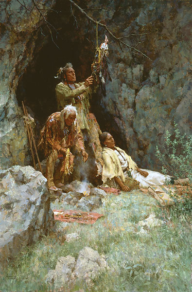 Howard Terpning - THE HEALING POWER OF THE RAVEN BUNDLE -  LIMITED EDITION PRINT Published by the Greenwich Workshop