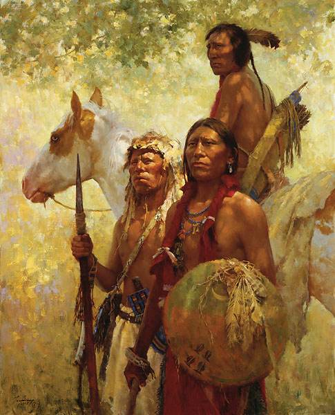 Howard Terpning - Protectors of the Cheyenne People -  MASTERWORK CANVAS EDITION Published by the Greenwich Workshop
