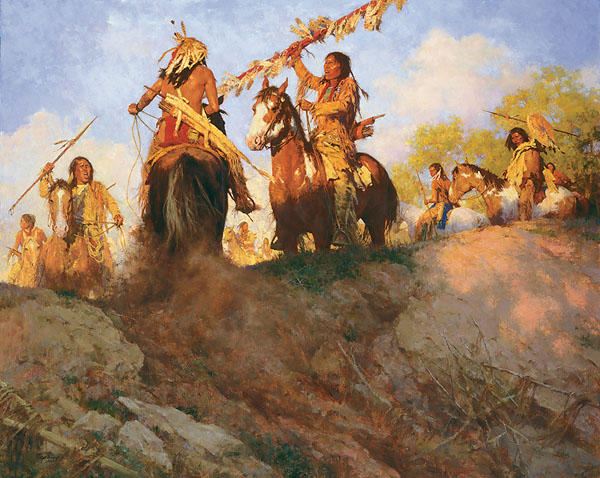 Howard Terpning - Sunset for the Comanche -  MASTERWORK CANVAS EDITION Published by the Greenwich Workshop