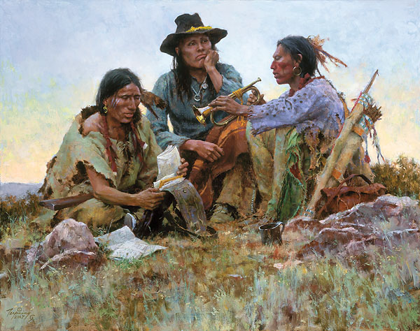 Howard Terpning - Found on the Field of Battle -  MASTERWORK CANVAS EDITION Published by the Greenwich Workshop