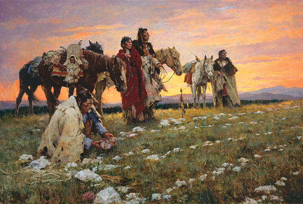 Howard Terpning - Journey to the Medicine Wheel -  MASTERWORK CANVAS EDITION Published by the Greenwich Workshop