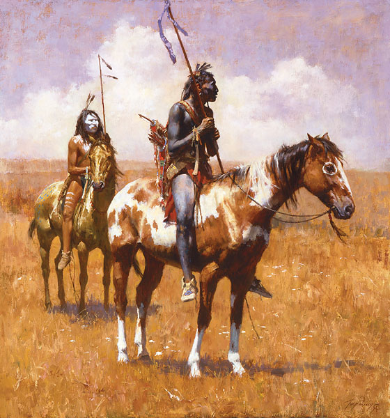 Howard Terpning - Coup Sticks and War Paint -  LIMITED EDITION CANVAS Published by the Greenwich Workshop