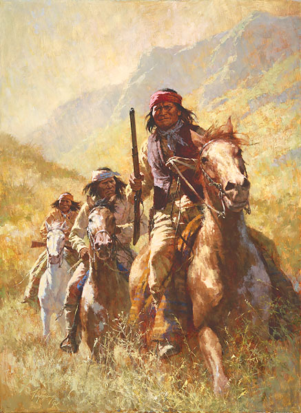 Howard Terpning - Legend of Geronimo -  MASTERWORK CANVAS EDITION Published by the Greenwich Workshop