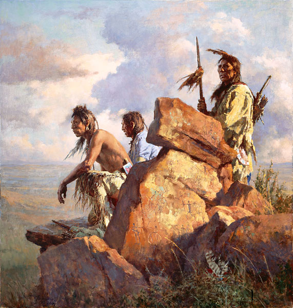 Howard Terpning - Among the Spirits of the Long-Ago People -  LIMITED EDITION PRINT Published by the Greenwich Workshop