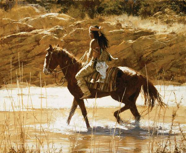 Howard Terpning - The Captain´s Horse -  LIMITED EDITION CANVAS Published by the Greenwich Workshop