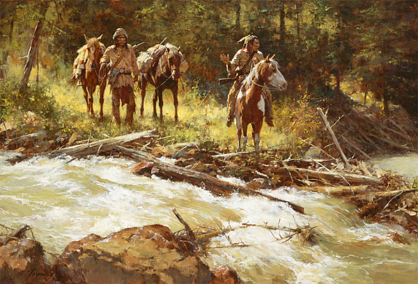 Howard Terpning - Broken Trail -  LIMITED EDITION CANVAS Published by the Greenwich Workshop