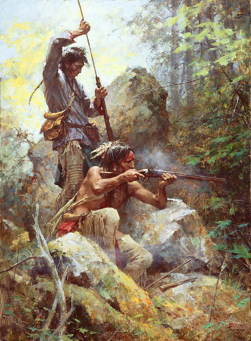 Howard Terpning - White Man Fire Sticks -  LIMITED EDITION PRINT Published by the Greenwich Workshop