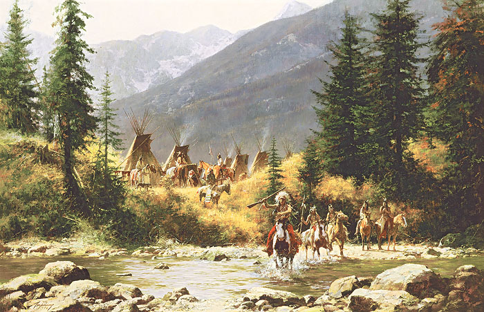 Howard Terpning - Crow Country -  MASTERWORK CANVAS EDITION Published by the Greenwich Workshop