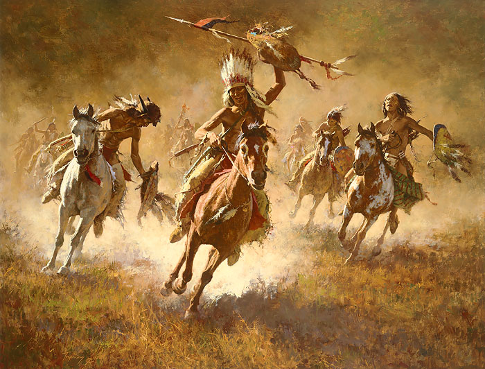 Howard Terpning - Mystic Power of the War Shield -  MASTERWORK CANVAS EDITION Published by the Greenwich Workshop