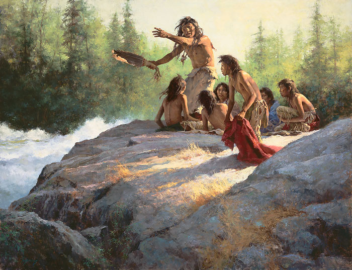 """Mystery of the Underwater People"" by Howard Terpning"
