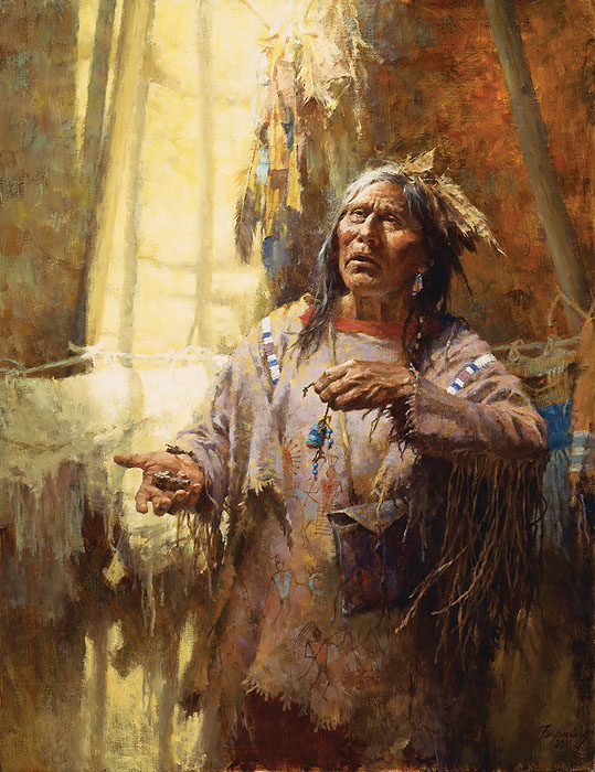 Howard Terpning - Calling the Buffalo -  LIMITED EDITION CANVAS Published by the Greenwich Workshop